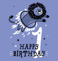 birthday card for 1 year old baby vector image vector image