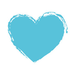blue drawing heart love romance passion vector image