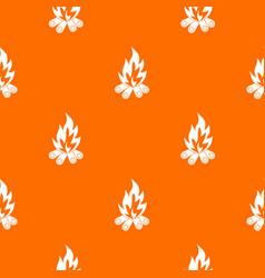 bonfire pattern seamless vector image