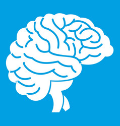Brain icon white vector
