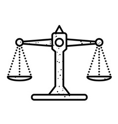 Cartoon image of balance icon scales symbol vector