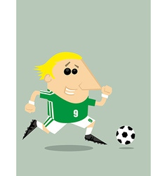 Cartoon soccer player vector