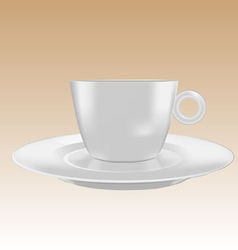 cup small mockup vector image vector image