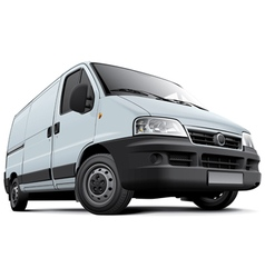 European light commercial vehicle vector image vector image