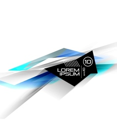 Hi-tech colorful futuristic lines vector