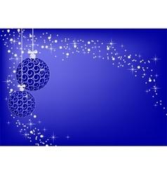 image christmas blue balls vector image