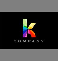 k alphabet letter mosaic design vector image vector image