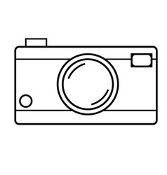Photocamera icon vector
