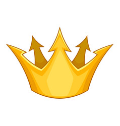 Prince crown icon cartoon style vector
