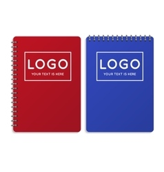 Realistic office notebook diary vector
