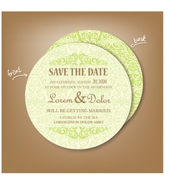 Round save the date vector