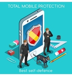 Security App 01 Concept Isometric vector image vector image