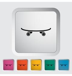 Skateboard flat icon vector image vector image