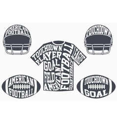 Sports symbols of American football with vector image vector image