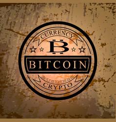 The sticker of bitcoin symbol vector
