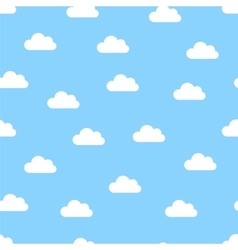 white clouds seamless vector image vector image