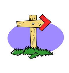 wooden post vector image vector image