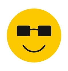 Happy smiley icon flat style vector