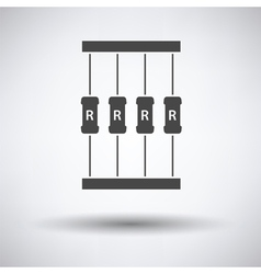 Resistor tape icon vector