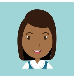 Girl student uniform icon vector