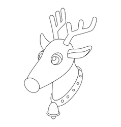 Deer head icon outline style vector image