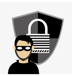 Hacker system security design vector