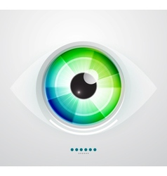 Abstract techno eye vector