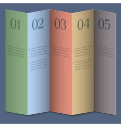 Folded numbered paper banners vector image