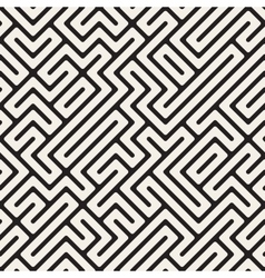 Irregular Maze Lines Seamless Black and vector image