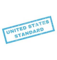 United states standard rubber stamp vector