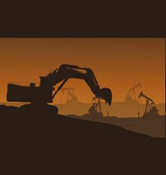 Bad environment with construction industry vector