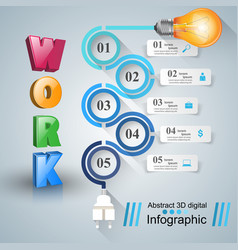 Infographic design bulb light icon vector