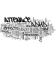 A new adhd drug on the horizon text word cloud vector