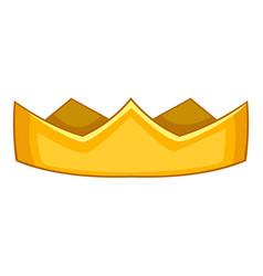 Baron crown icon cartoon style vector
