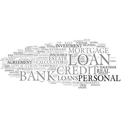 Loan word cloud concept vector