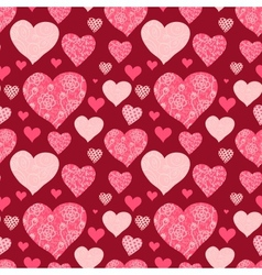 Seamless valentines day background vector