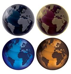 3d Globe Color set vector image