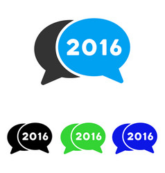 2016 chat flat icon vector