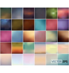Big set of soft colored abstract background vector