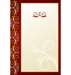 Greeting ornament card vector