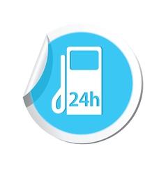 petrol station 24h BLUE LABEL vector image