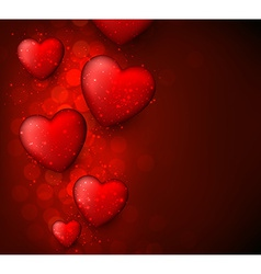 Valentines red background vector
