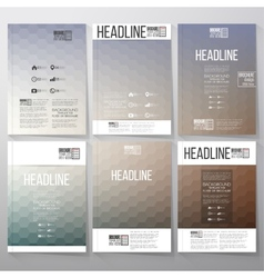 Abstract blurred hexagonal backgrounds brochure vector