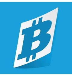 Bitcoin sticker vector