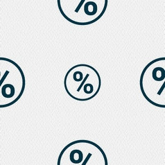 Percentage discount icon sign seamless pattern vector