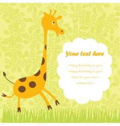 Child greeting card vector