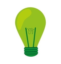 Green light bulb lightbulb icon vector