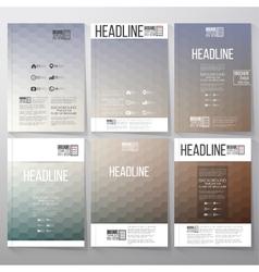 Abstract blurred hexagonal backgrounds brochure vector