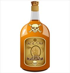 Bottle of pirate rum vector