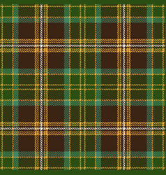 Brown tartan plaid seamless pattern vector